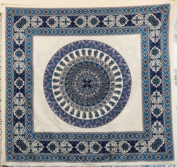 jaan-imports - Purple Blue Mandala Queen Tapestry - Khoobsurat Gift Shop - Queen Tapestry