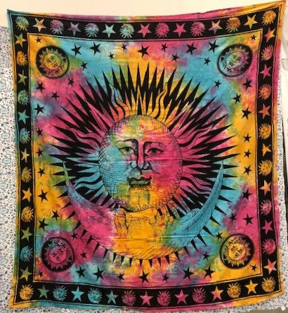jaan-imports - Sun and Moon Queen Tapestry (4 Color Options) - Khoobsurat Gift Shop - Queen Tapestry
