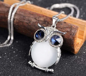 jaan-imports - Owl with Rhinestones Elegant Long Necklace - Khoobsurat Gift Shop - Necklace