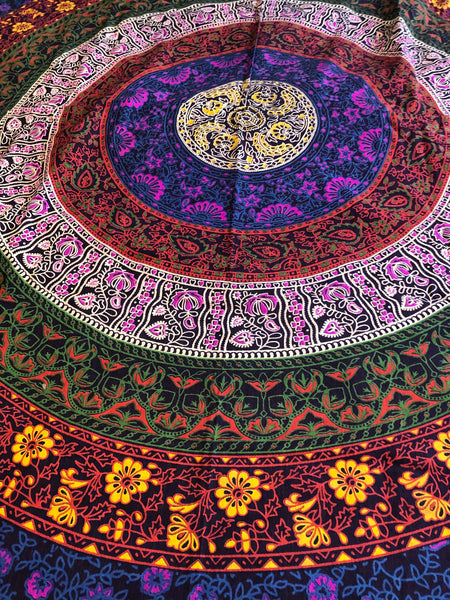 Colorful Mandala Twin Duvet Set