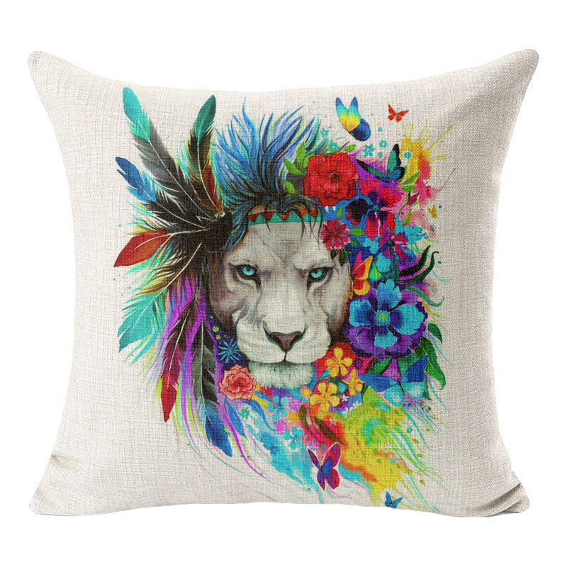 jaan-imports - Lion Pride Pillow Cover - Khoobsurat Gift Shop - Pillow Cover