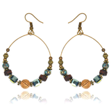 jaan-imports - Bohemian Vintage Beaded Hoop Earrings - Khoobsurat Gift Shop - Earrings