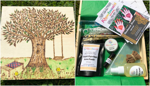 DIY Henna Kit with Tree of Life Keepsake Box