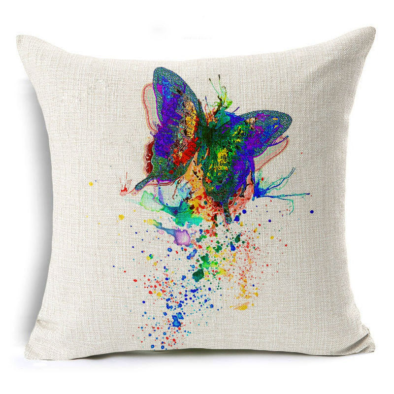 jaan-imports - Colorful Rainbow Splatter Butterfly Pillow Cover - Khoobsurat Gift Shop - Pillow Cover