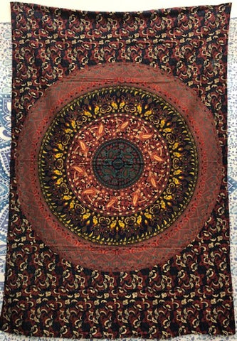 jaan-imports - Navy Rustic Mandala Twin Tapestry - Khoobsurat Gift Shop - Twin Tapestry