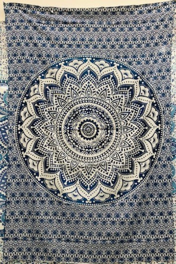 jaan-imports - Blue Mandala Twin Tapestry - Khoobsurat Gift Shop - Twin Tapestry
