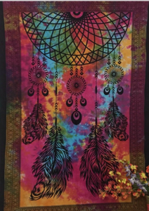 jaan-imports - Tye Dye Colorful Dream Catcher Twin Tapestry - Khoobsurat Gift Shop - Twin Tapestry