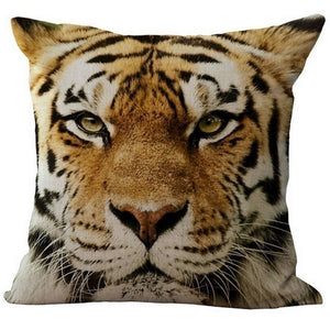 jaan-imports - Orange Tiger Pillow Cover - Khoobsurat Gift Shop - Pillow Cover