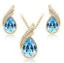 jaan-imports - Light Blue Tear Drop Earring and Necklace Jewelry Set - Khoobsurat Gift Shop - Jewelry Set