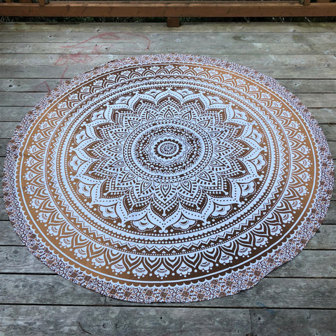 jaan-imports - Tan Color Round Tapestry - Khoobsurat Gift Shop - Round Tapestry