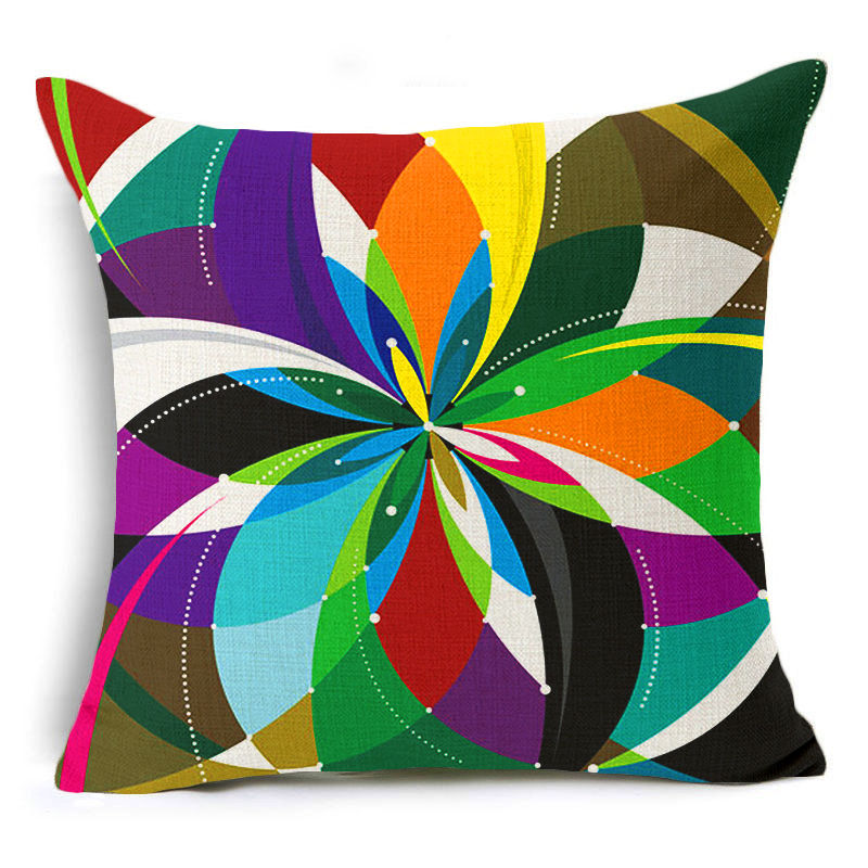 jaan-imports - Multi-Color Flower Pillow Cover - Khoobsurat Gift Shop - Pillow Cover
