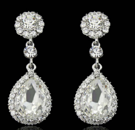 jaan-imports - Elegant Rhinestone Teardrop Earrings (4 Colors) - Khoobsurat Gift Shop - Earrings