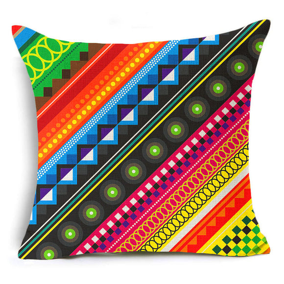jaan-imports - Multi-Color Design Print Pillow Cover - Khoobsurat Gift Shop - Pillow Cover