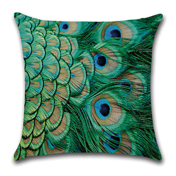 jaan-imports - Gorgeous Peacock Feather Pillow Cover - Khoobsurat Gift Shop - Pillow Cover