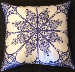 jaan-imports - Navy Blue Mandala Pillow Cover - Khoobsurat Gift Shop - Pillow Cover