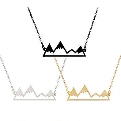 jaan-imports - Mountain Necklace in Silver, Gold or Black - Khoobsurat Gift Shop - Necklace