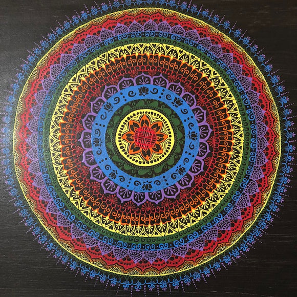 jaan-imports - Handmade Henna Inspired Art- Colorful Rainbow Mandala, A Must have Piece of Art - Khoobsurat Gift Shop - Henna Art