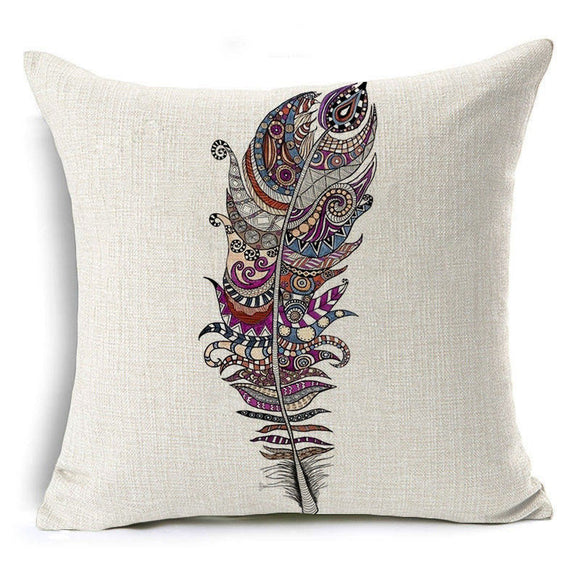jaan-imports - Feather Leaf Pillow Cover - Khoobsurat Gift Shop - Pillow Cover
