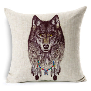 jaan-imports - Native Wolf Pillow Cover Pillow Case - Khoobsurat Gift Shop - Pillow Cover
