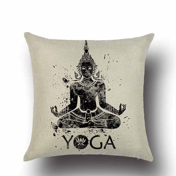 jaan-imports - Yoga Meditation Pillow Cover - Khoobsurat Gift Shop - Pillow Cover