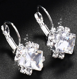 jaan-imports - Elegant Square Rhinestone Dangle Earrings (5 Colors) - Khoobsurat Gift Shop - Earrings
