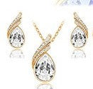 jaan-imports - Clear Teardrop Earring and Necklace Jewelry Set - Khoobsurat Gift Shop - Jewelry Set