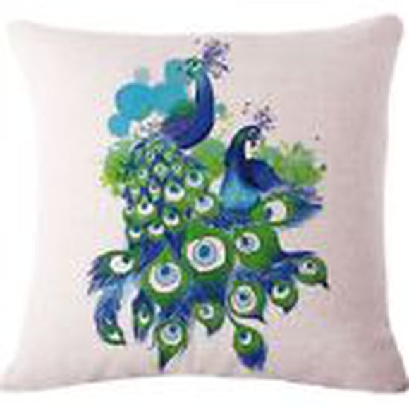 jaan-imports - Two Peacocks Pillow Cover - Khoobsurat Gift Shop - Pillow Cover