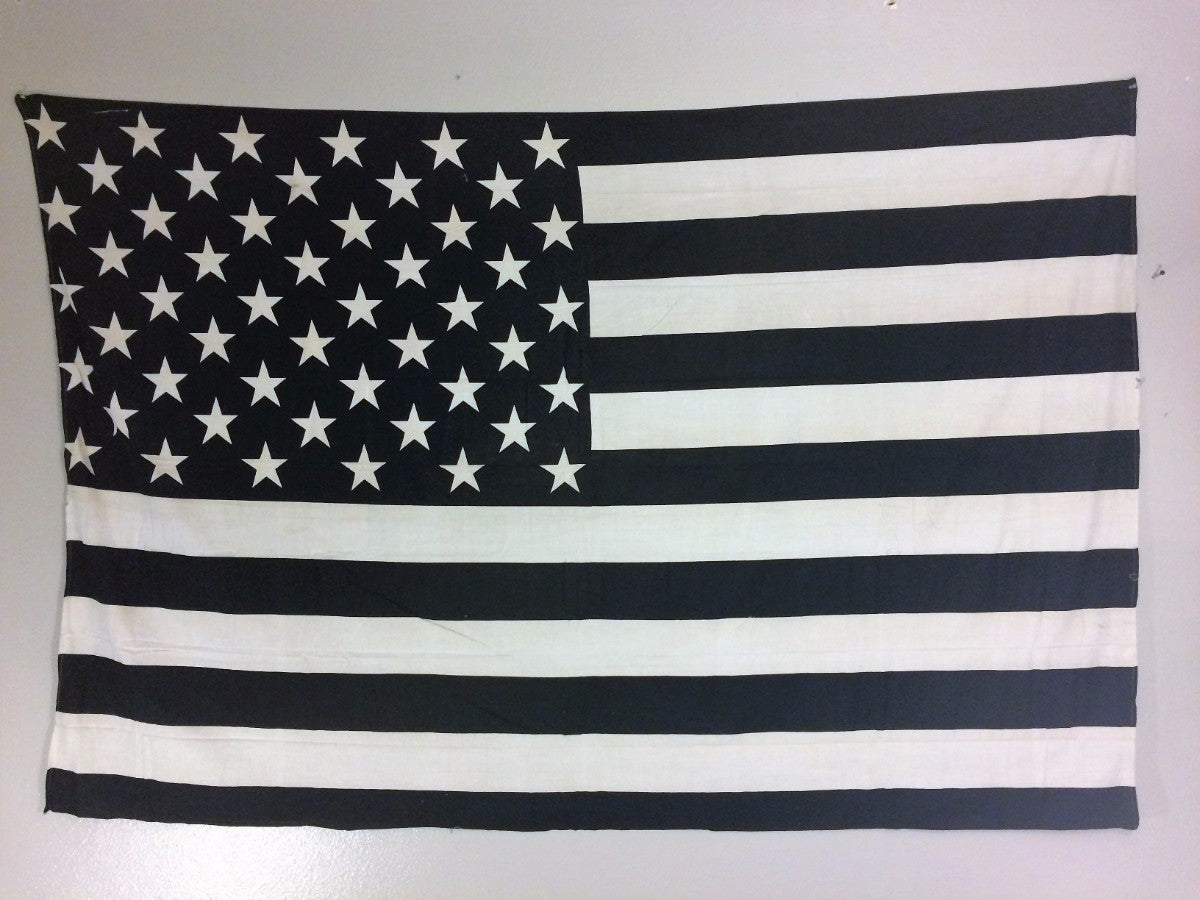 jaan-imports - Black and White USA Flag Twin Tapestry - Khoobsurat Gift Shop - Twin Tapestry