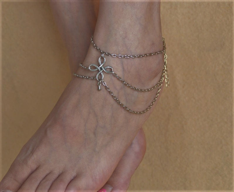 jaan-imports - Celtic Multi Chain Anklet - Khoobsurat Gift Shop - Anklet