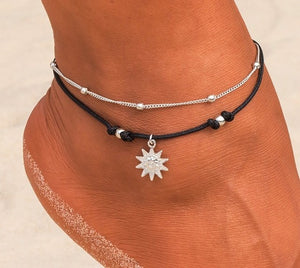 jaan-imports - Sun Black Double Anklet - Khoobsurat Gift Shop - Anklet