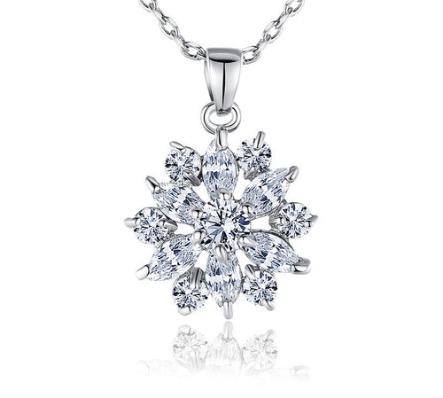 jaan-imports - Snowflake Rhinestone Elegant Necklace (3 Colors) - Khoobsurat Gift Shop - Necklace