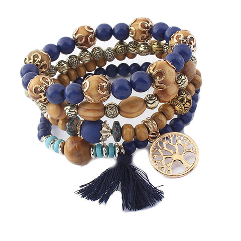 jaan-imports - Beaded Tassel Tree of Life Bracelet (5 Colors) - Khoobsurat Gift Shop - Bracelet
