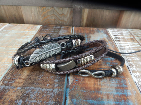 jaan-imports - Leather Bracelets with Charms (3 Styles) - Khoobsurat Gift Shop - Bracelet
