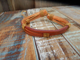 jaan-imports - Tan/Orange Leather Bracelets (3 Styles) - Khoobsurat Gift Shop - Bracelet