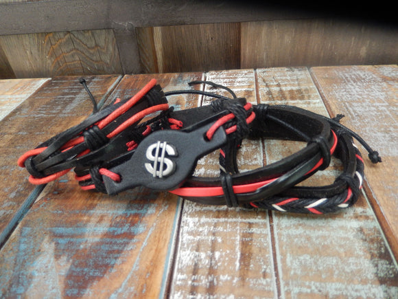 jaan-imports - Red and Black Leather Bracelets (4 Styles) - Khoobsurat Gift Shop - Bracelet