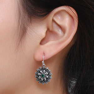 jaan-imports - Cute Flower Green Rhinestone Earrings - Khoobsurat Gift Shop - Earrings