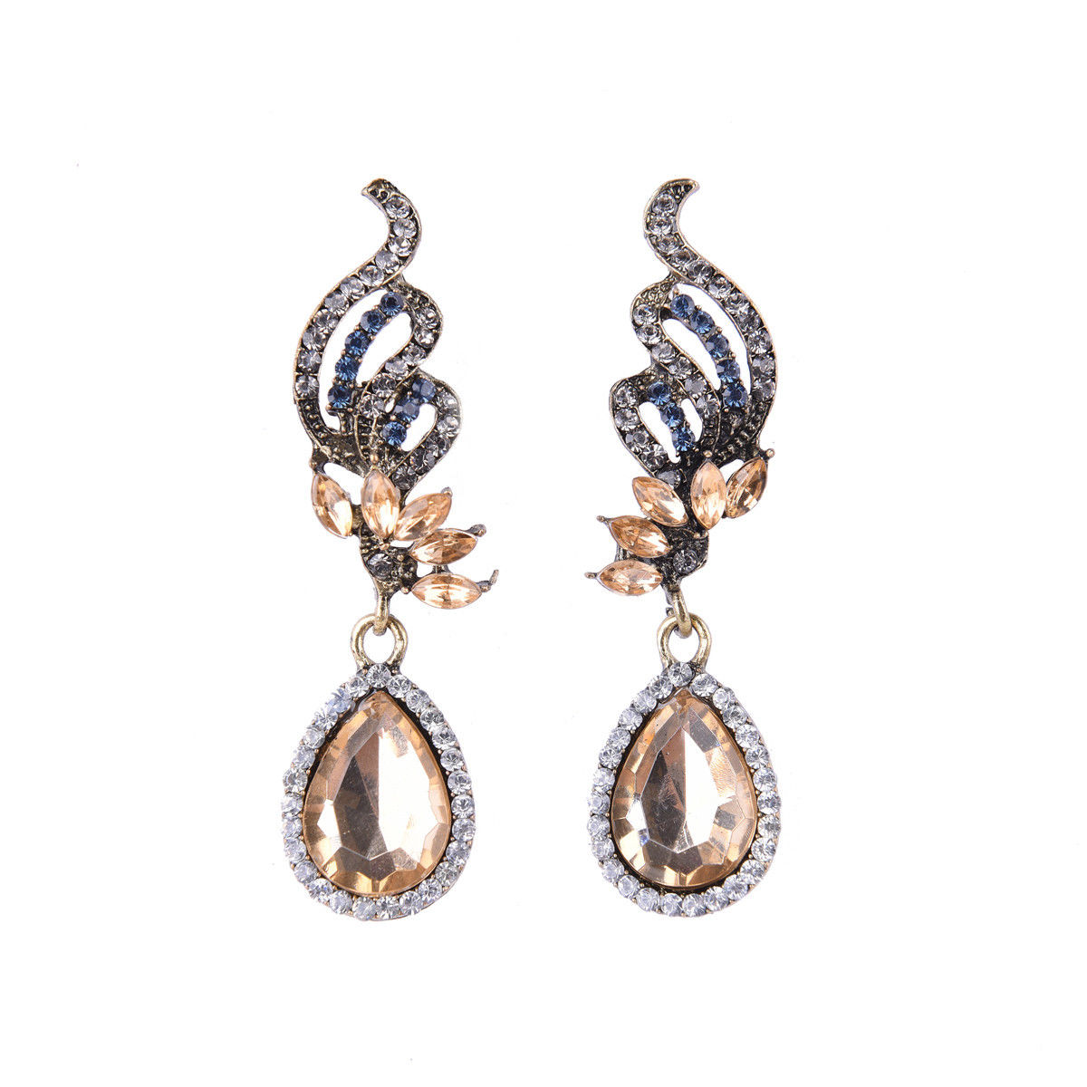 jaan-imports - Honey Color Tear Drop Earrings - Khoobsurat Gift Shop - Earrings