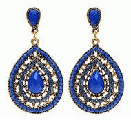 jaan-imports - Tear Drop Rhinestone Earrings (2 Color Options) - Khoobsurat Gift Shop - Earrings