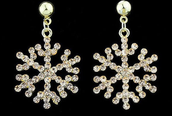 jaan-imports - Snowflake Rhinestone Dangle Earrings - Khoobsurat Gift Shop - Earrings