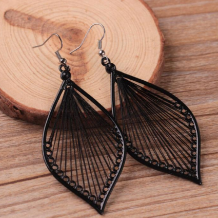 jaan-imports - String Tear Drop Boho Earrings (3 Colors) - Khoobsurat Gift Shop - Earrings