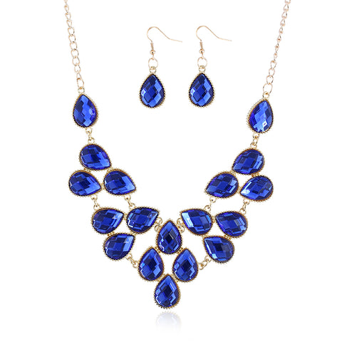jaan-imports - Blue Gold Jewelry Set - Khoobsurat Gift Shop - Jewelry Set