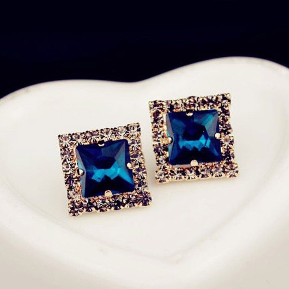 jaan-imports - Exquisite Rhinestone Inlaid Square Earrings - Khoobsurat Gift Shop - Earrings