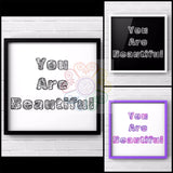 jaan-imports - You Are Beautiful Set of 3 Digital Downloads JPG - Khoobsurat Gift Shop - Digital Download