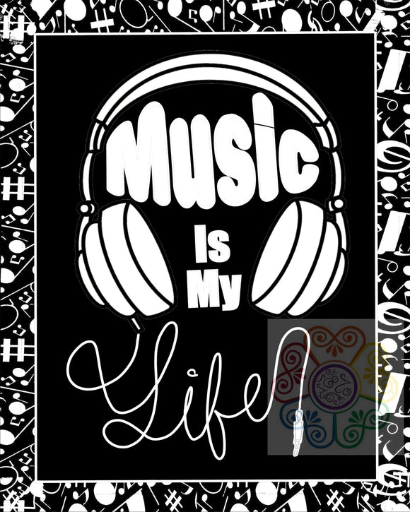 jaan-imports - Music Is My Life Headphones Digital Downloads JPG - Khoobsurat Gift Shop - Digital Download