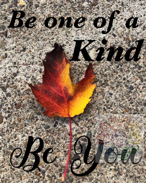 jaan-imports - Leaf Be one of a Kind Be You Photography Digital Downloads JPG - Khoobsurat Gift Shop - Digital Download