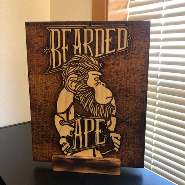 Custom Wood Burning Art Wooden Stand | Pyrography | Handmade | Personalized Gifts