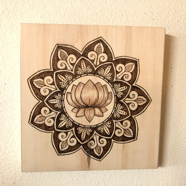 Custom Wood Burning Art with a custom Mandala | Pyrography | Handmade | Names/Dates | Quotes | Poems | Sayings| Symbols | Personalized Gifts