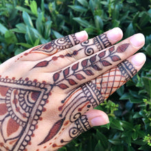 Load image into Gallery viewer, Combo Henna and Hengua (Henna with Jagua) Cones Bulk Prefilled Blend of Rajasthani Henna Powder Essential Oil 100% All Natural Organic