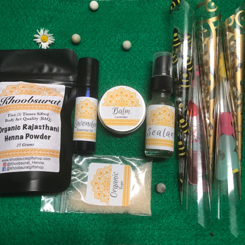 DIY Henna Kit with Cello Cones/Sheets
