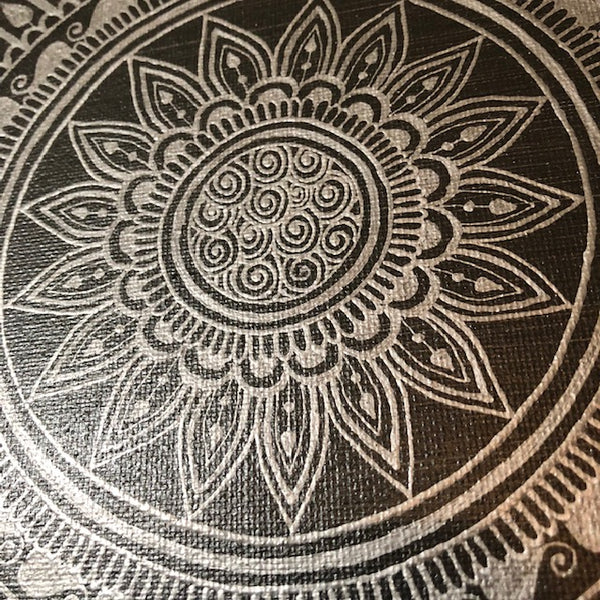 jaan-imports - Handmade Henna Inspired Art- Beautiful Silver Color Mandala - Khoobsurat Gift Shop - Henna Art